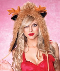 Reindeer Hat for Santa's Helpers for sexy Santa Parties