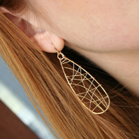 Teardrop Get Wired Earrings from Nicholas Lane Jewelry