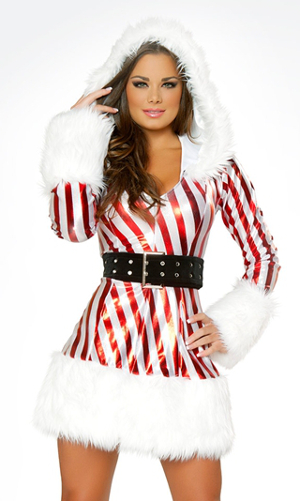 Candy Cane Hooded Dress