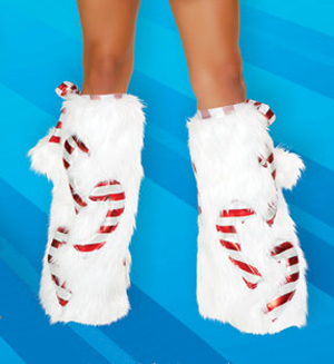 J Valentine Candy Cane Boot Covers or Leg Warmers
