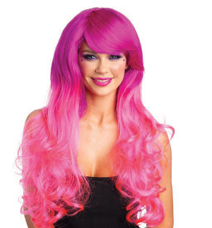 Cambria Wig in Fuchsia