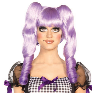 Dolly Wig with detachable Ringlet clips