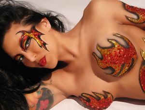 Blaze Tatas body art from Xotic Eyes