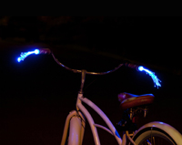 Battery powered Glowing streamers for your bicycle