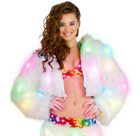Cropped length jacket with light up LED lighting