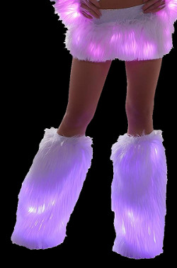 Faux Fur Light Up Leg Warmers from J Valentine
