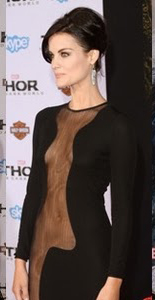 feather earrings from Jessica Hicks on Jaimie Alexander