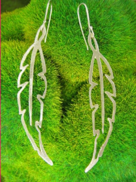 Jewelry including these beautiful sterling silver feather earrings