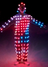 Suit with LED light strings