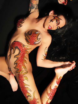 Blazin Tatas body art from Xotic Eyes